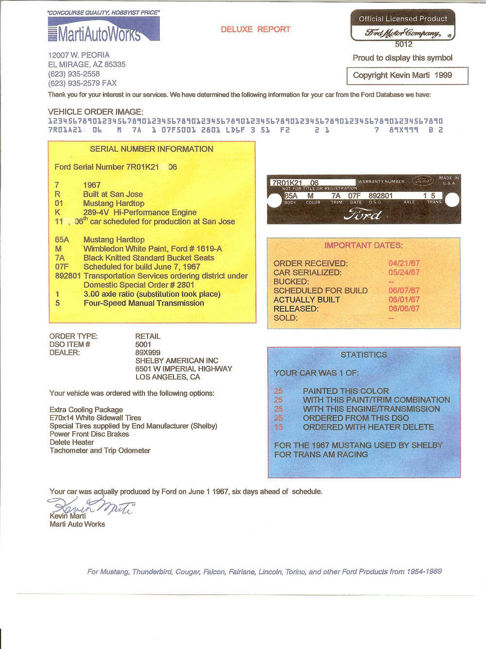 1967 Shelby Trans Am 67 Mustang Gt Tachometer Wiring Historic Technical Documents
